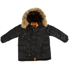 Детская куртка аляска Alpha Industries Youth N-3B Parka YJN44500C1 (Black)
