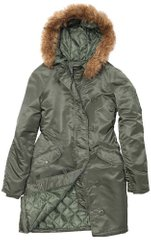 Осенняя женская парка Alpha Industries Natasha WJN43902C1 (Sage Green)