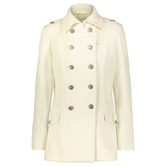 Женское пальто бушлат Alpha Industries Ladies Wool Long Pea Coat WJW37100C1 (айвори)