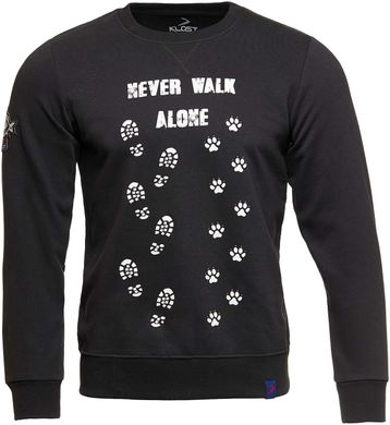 Свитшот KLOST «Never Walk Alone», XL, Black