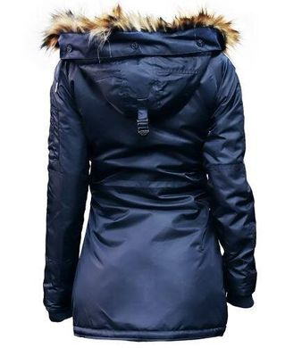 Женская парка Miss Top Gun Fitted Nylon N-3B Parka TGJ1574 (Navy)