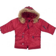 Детская куртка аляска Alpha Industries Youth N-3B Parka YJN44500C1 (Commander Red)