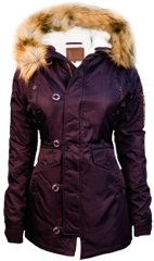 Женская куртка парка Miss Top Gun Fitted Nylon N-3B Parka TGJ1574 (Burgundy)