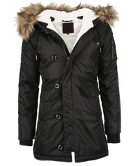 Женская парка Miss Top Gun Fitted Nylon N-3B Parka TGJ1574 (Black)