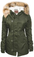 Женская парка Miss Top Gun Fitted Nylon N-3B Parka TGJ1574 (Olive)